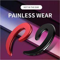 Casque sans fil Bluetooth Écouteur Crochet d'oreille Oreillette indolore Blutooth Sport Casque pour téléphone iPhone Xiaomi (Vente au détail)