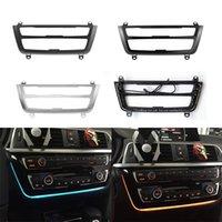 راديو تريم LED لوحة القيادة مركز وحدة التحكم AC لوحة الضوء الأزرق البرتقالي ضوء الغلاف الجوي لسيارات BMW 3 4 سلسلة 3GT F30 M3 M4 LCI
