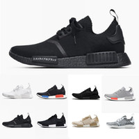 2018 Wholesale R1 Shoes Discount Cheap Nmd Japan red gray Gr...