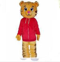 2019 De haute qualité caricature chaude Gâteaux Costume De Mascotte Daniel Tiger Costumes De Mascotte Daniele Tigere