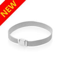 Nova chegada Reflexões mão Cadeia Pulseira de caixa Original para Pandora 925 pulseiras de prata esterlina para mulheres dos homens