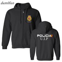 Espana Policia Espanha Nacional Espana Policia Anti Swat Geo vai Forças Especiais Homens Hoodie Tops Jacket camisola