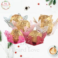 Big Heard Love 50pcs Butterfly Chocolate Wrappers Party Favors Chocolate Bar Candy Box Bar Wedding Accessories Party Decoration