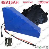 48 V Trójkąt Bateria 48V Elektryczna bateria rowerowa 48V 15Ah bateria litowa Użyj komórki Samsung z 20a BMS i ładowarką 54.6 V 2A.