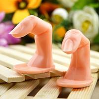 NAT009 uñas de arte plástico falso dedo Práctica Práctica Modelo Para la mano de manicura del arte del clavo del diseño de Formación