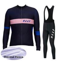 Maap Bisiklet Jersey Takım 2020 Erkekler Kış Termal Polar Bisiklet Giyim Isıtıcı Uzun Kollu Yol Bisiklet Kıyafetler Açık Spor Y20031404