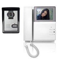 Téléphone Moniteur système vidéophone Sonnette Vidéo Interphone IR caméra de vision nocturne porte Sonnette Vidéo kit parlophone