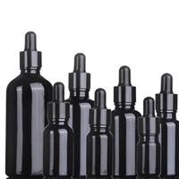 10 мл 15 мл 20 мл 30 мл 50 мл 100 мл пустой черный стеклянный флакон капельницы эфирного масла Косметические упаковочные контейнеры