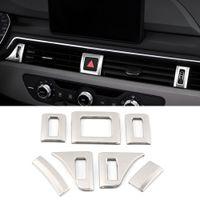 Audi A4 A5 S4 S5 B9 2017-2020 için Araç Aksesuarları Paslanmaz Ön Hava Firar Çıkışı Trim Sticker Kapak Çerçeve İç Dekorasyon