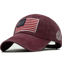New Cotton Gorras Washed Baseball Cap Flag Of USA Hat Snapba...