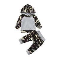 2019 Winter 2PCS Kids Clothes Toddler Baby Girls Boys Camouf...
