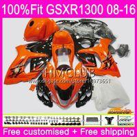 Einspritzung für SUZUKI Hayabusa GSXR1300 08 13 14 15 16 23HM.81 GSX-R1300 GSXR-1300 GSXR 1300 2008 2013 2014 2015 2016 Orange schwarze Verkleidungen