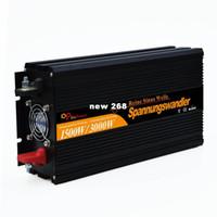Freeshipping 24 v inversor de onda senoidal pura 1500 w (pico 3000 w) DC 24 v para AC 220 v 230 v 240 v com controle remoto com fio