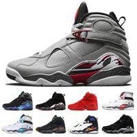 День Святого Валентина Aqua White Black 8 8s Мужчины Баскетбольные кроссовки Chrome Countdown Pack 3 PEAT VIII Мужские кроссовки Спортивные кроссовки размер 7-13