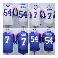 Männer 7 Alex Moran Jersey Blue White Mountain State BMS TV Movie Jerseys 54 Kevin Thad Castle Stickerei Logos Sports Shirts Größe S-4XL