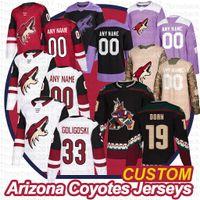 Custom Arizona Coyotes Hockey-Trikots Shane Doan Alex Goligoski Niklas Hjalmarsson Phil Kessel Oliver Ekman-Larsson Männer Frauen Jugend