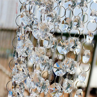 10m / lote Cristal Prism Beading Ornament Wedding Road Road Lead Acrílico Cristal Octagon Bead Cortina Europa Diy Artesanato Decoração Festa de Casamento