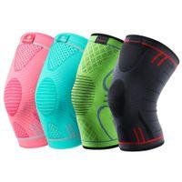 Kuangmi 1 PC genou Brace Support élastique en nylon sport compression coussin pour les genoux manches pour l'exécution de l'arthrite de secours des douleurs articulaires genouillères