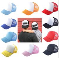 Personalizzato Logo Berretto da baseball adulto figlio personalità DIY Design Trucker Hat 100% Cappelli in poliestere Blank Mesh Cap Uomini Donne