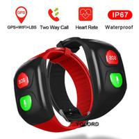 كبار السن أقدم رجل يبلغ من العمر GPS + WIFI الوظيفة معدل ضربات القلب SOS التطبيقات المراقبة عن بعد للكبار المسنين الذكية ووتش فرقة سوار معصمه 1PCS / 10PCS / LOT