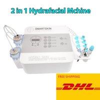 Новый 2 in1 воды Hydra микродермабразия лица Oxygen очищение кожи Jet BIO Ультразвуковая hydradermabrasion машина HydraFacial Dermabrasion