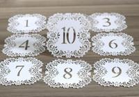 Hollow Laser Cut soggiorno Carte NO.1-20 Bella pizzo sede Scheda Digital Card per Matrimonio romantico partito Event Forniture HHA427