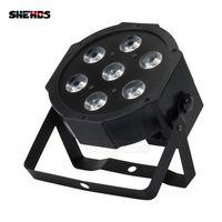 SHEHDS Lyre 7x12W RGBW LED LED PAR LED con DMX512 Effetto luce per lavare in fase DMX512 per DJ Disco Disco Disco Party Stage Attrezzature Luces Discoteca