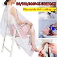 50 100 200Pcs Disposable Hairdressing Capes PE Waterproof Ap...