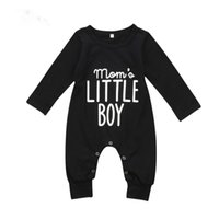 Brand New Fashion Neonato Infant Baby Boys Pagliaccetto manica lunga Tuta Playsuit Little Boy abiti neri vestiti