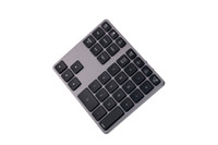 Di alta qualità in lega di alluminio Bluetooth Wireless Numeric Keypad con HUB USB Digital Funzione di ingresso per Windows, Mac OS, PC portatile Android