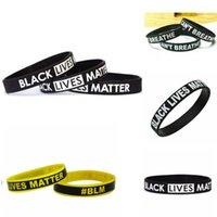 14 renkler Siyah Hayatlar Matter Silikon Bileklik Black Silikon Kauçuk Bileklik Bilezik GH154 NEFES CAN NOT