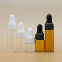 2ml 3ml 5 ml Mini Bernsteinglas Troppfe Flasche Probe Container Essential Oil Parfüm Winzige tragbare Flaschen Fläschchen