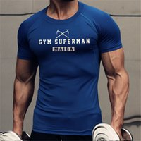 Sport T Shirt 2019 Gym Camicia a maniche corte Uomo Running uomo workout Tees fitness Top Sport T-shirt