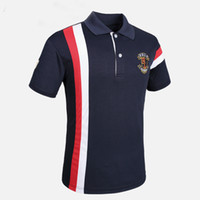 POLO Shirts Männer Kurzarm Mode multi-color patchwork polo hemd jungen 2019 Neue Sommer Herren Atmungsaktive Polos Hommes hemd