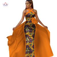 Vestidos Africanos para as Mulheres Plus Size Dashiki Sleeveles Africano Vestidos para mulheres em roupas africanas Vestido de festa 4xl Outro WY2340