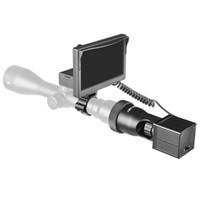 النار وولف 850nm الأشعة تحت الحمراء مصباح يدوي 5 بوصة LCD للرؤية الليلية في الهواء الطلق الصيد البصرية البصر التكتيكي Riflescope نطاق كاميرات