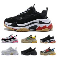 Triple S High quality designer Paris 17FW Triple s Sneakers for men women black red white green Casual Dad Shoes tennis luxury increasing sneakers
