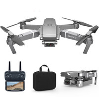 E68 드론 헬리콥터 HD 4K 1080P 카메라 WIFI FPV 광각 하이트 홀드 모드 RC 접이식 쿼드 콥터 무게 95g 어린이 장난감 선물