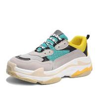 2019 تصميم هوت بالجملة عالي الكعب حذاء رياضة الرجال المدرسة القديمة أبي حذاء موضة الأحذية عارضة سميكة أسفل الحذاء الطول زيادة