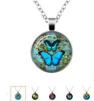 Butterfly Glass Kettingen voor Dames Meisjes Lampwork Glass Pendant Geassorteerde Willekeurige Kleur Hanger Trui Kettingen