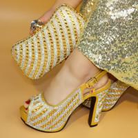 Venta caliente Zapatos de vestir para las mujeres y la bolsa de último diseño Italian Shoes and Bags Set alta calidad del estilo mujeres de la manera zapatos y bolso determinado para la fiesta