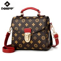 DOLOVE 2019 Fashion New Style Borsa da donna, PU in pelle stampata Messenger Bag, tracolla singola diagonale piccola borsa quadrata