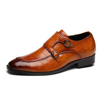 La venta caliente-Designer mocasines de los holgazanes de los hombres 2019 zapatos de los holgazanes del hombre cocodrilo zapatos de cuero del patrón del vestido formal de zapatos de negocios