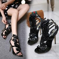 Sexy2019 Summer Lady Sexy 11cm High Heels Open Toe With Meta...