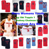 Dayton Flyers Jerseys Hommes 0 Rodney Chatman Jersey 1 Obi Toppin 2 Ibi Watson 3 Trey Landers NCAA Basketball Jerseys sur mesure cousu