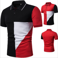 Hot sell Fashion casual men' s short- sleeved POLO shirt ...