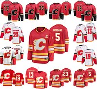 Calgary Flames Trikots Mens 5 Mark Giordano Jersey 19 Matthew Tkachuk 13 Johnny Gaudreau 23 Sean Monahan Frauen Eishockey Trikots Jugend