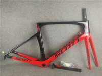 T1000 UD Glossy Red Black road bike Frameset SCOTT Foil Carbon Road frames with PF30 47/49/52 / 54cm free shipping