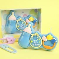 Mutlu 100 gün Doğum Günü mum hediye kutusu ambalaj güzel numarası Mum Sevimli Parti Kek Topper Bebek Duş Iyilik # 398
