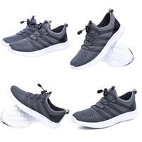 Unisex Hafif Fashiong Koşu Ayakkabıları Kadın Erkek Siyah Gri Spor Eğitmen Koşucu Sneakers Ev Yapımı Marka Çin Boyutu 39-44